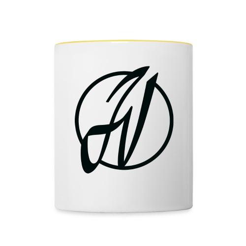 JV Guitars - logo noir - Mug contrasté