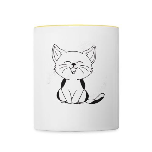 kitten - Mok tweekleurig