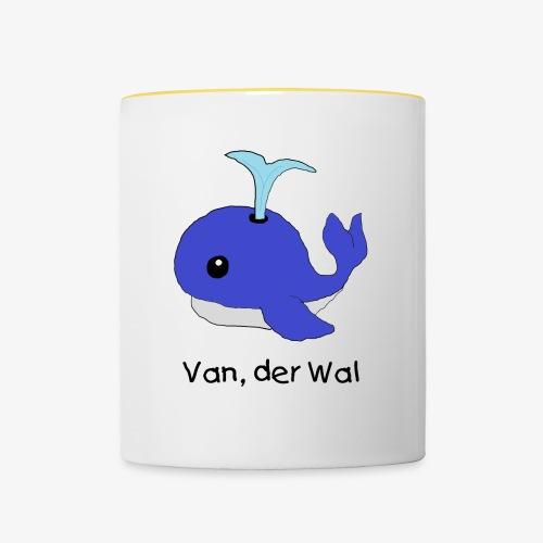 Van, der Wal mit Text schwarz - Tasse zweifarbig