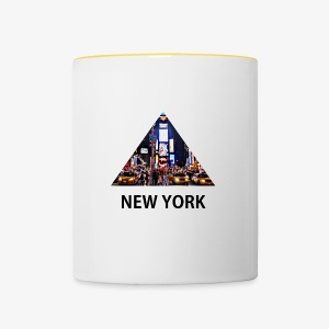 Triangle sur New York - Tasse bicolore