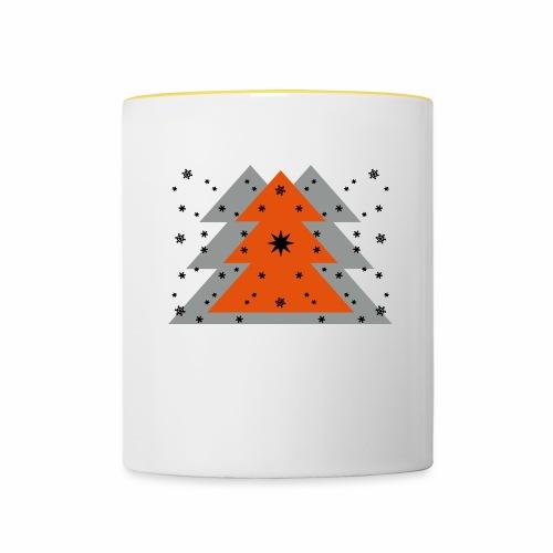 Weihnachten und Schnee - Tasse zweifarbig