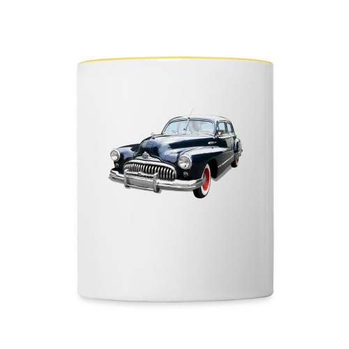 Classic Car. Buick zwart. - Mok tweekleurig