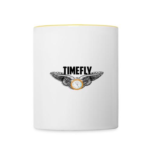 timefly merch design - Contrasting Mug