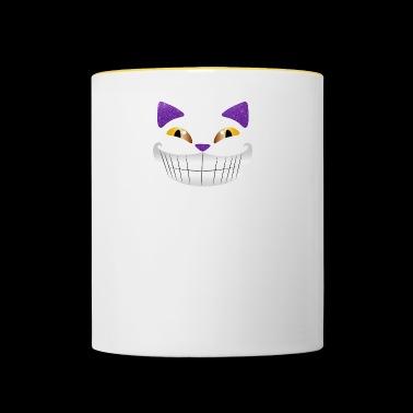Cheshire glitzerli śmiech śmieszne partia prezent - Kubek dwukolorowy