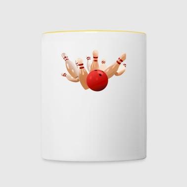 quilles de bowling boules boules sports50 - Tasse bicolore