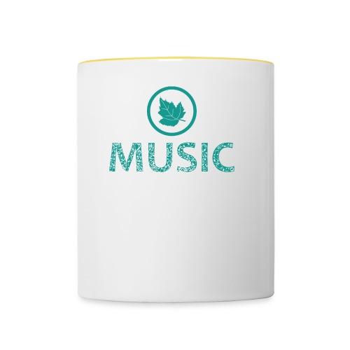 leaf music - Contrasting Mug