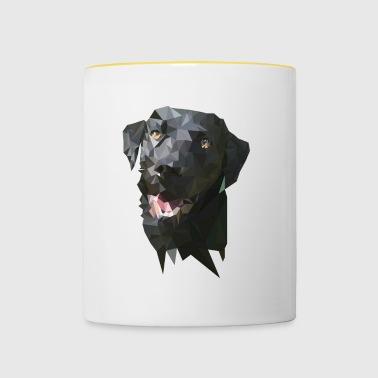 Musta Labrador Geometric Print - Kaksivärinen muki