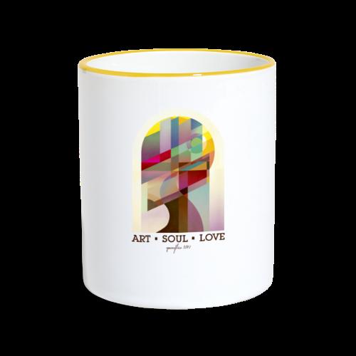 Farbenlehre - Tasse zweifarbig