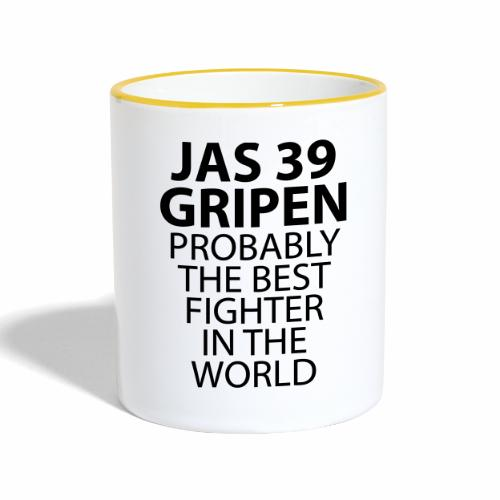 Gripen - Probably the best fighter - Tvåfärgad mugg