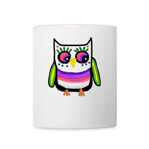 Colorful owl - Contrasting Mug
