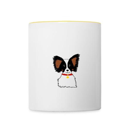Papillon dog - Contrasting Mug