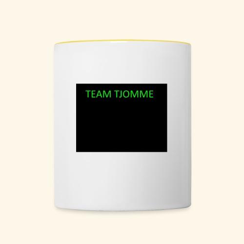 TJOMME logga - Tvåfärgad mugg