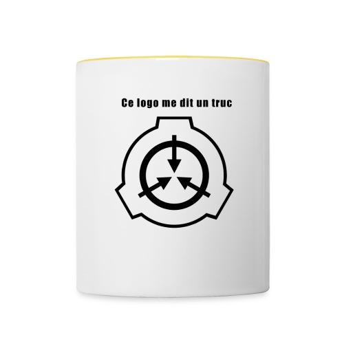 Mug SCP Ce Logo me dit un truc - Mug contrasté