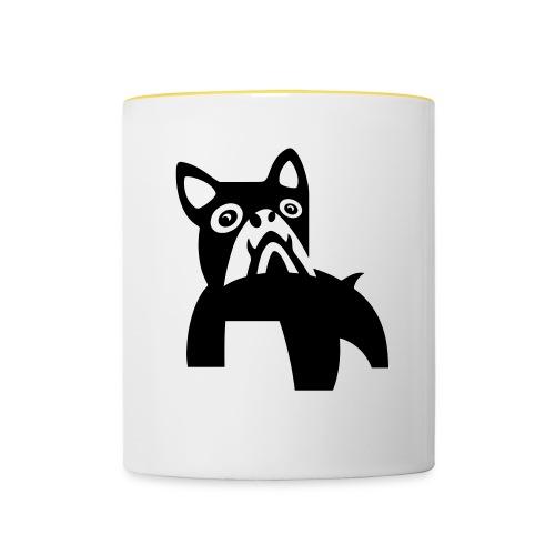 MadDog_kunst mit hund_out - Tasse zweifarbig