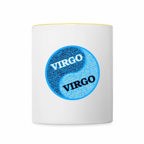 Virgo and Virgo Zodiac Sign Man Love Mug - Contrasting Mug