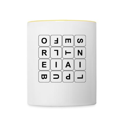 Grille 493 mots - Lettres tournées - Mug contrasté