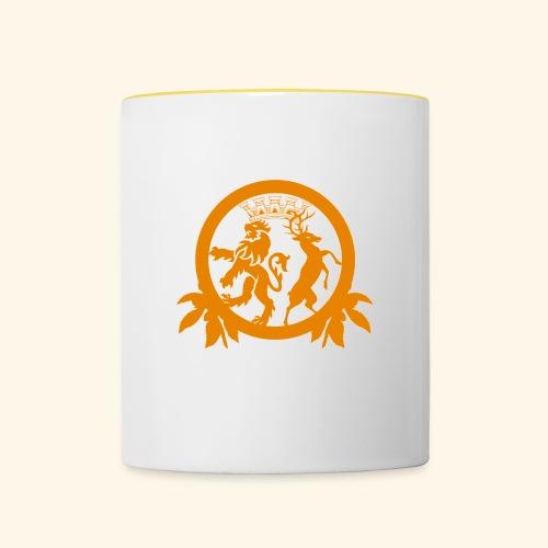 Logo weiß - Tasse zweifarbig