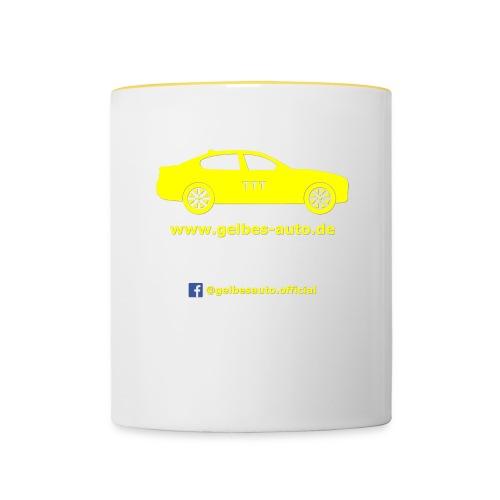 Logo - weißer Hintergrund - Tasse zweifarbig