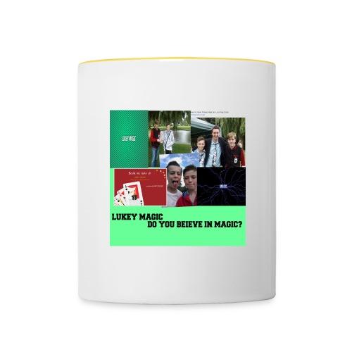 lukey magic collage jpg - Contrasting Mug