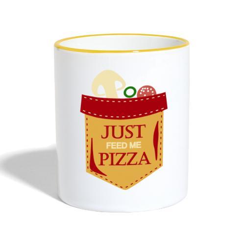 Dammi solo la pizza - Tazze bicolor