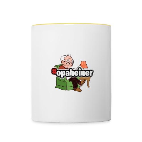 Opa Heiner - Tasse zweifarbig