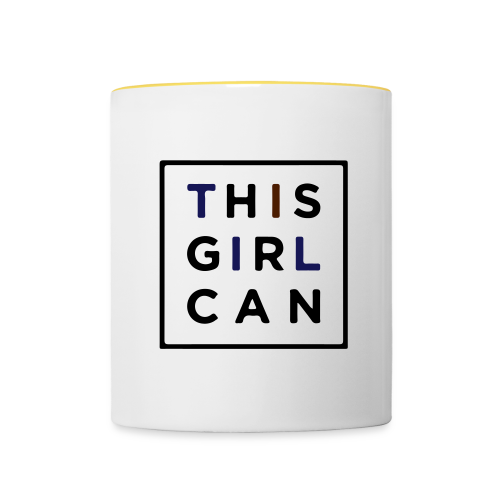 THIS GIRL CAN - Tasse zweifarbig