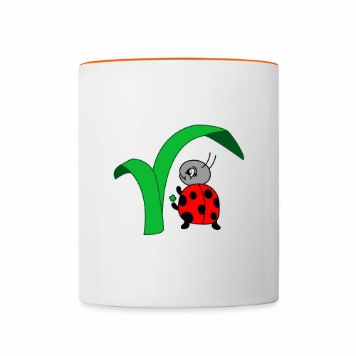 Marienkäfer - Tasse zweifarbig