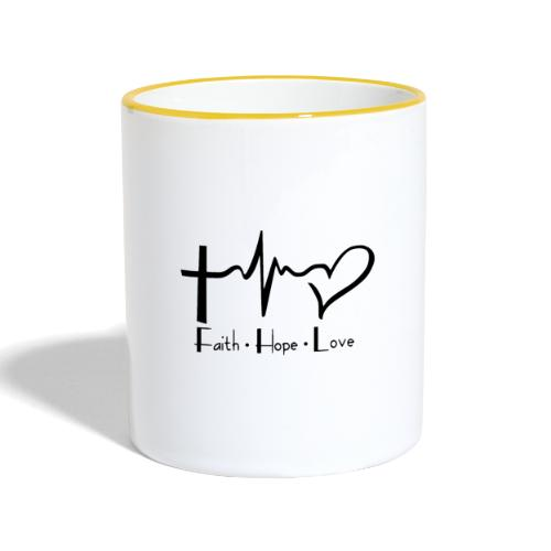 faith hope love - Mug contrasté