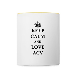 Keep Calm and Love ACV - Tasse zweifarbig