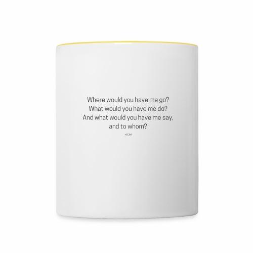 ACIM Quote - Tasse zweifarbig