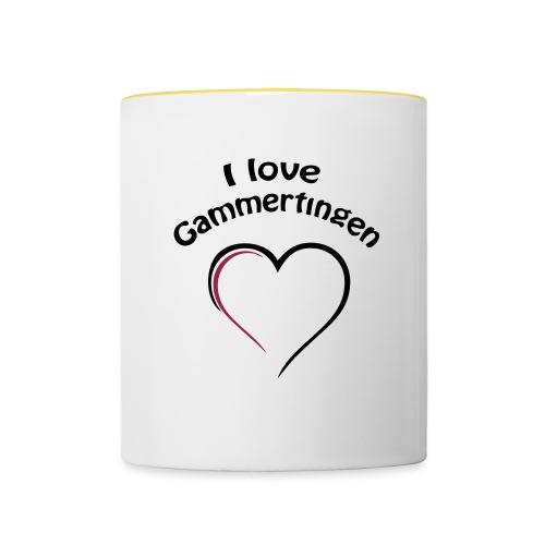 i love gammertingen - Tasse zweifarbig