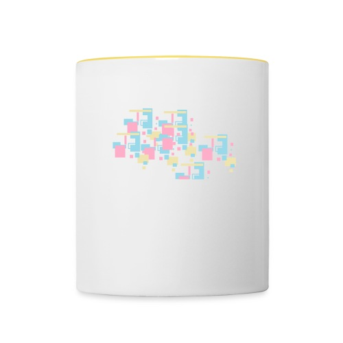Farbexplosion - Tasse zweifarbig