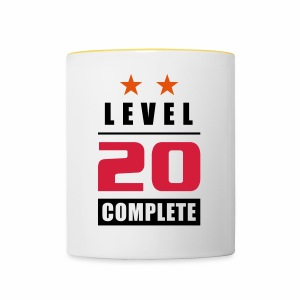 Level 20 - Complete - with stars - Kubek dwukolorowy