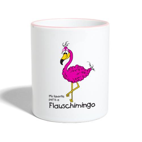 My favorite pet is a Flauschimingo - Tasse zweifarbig