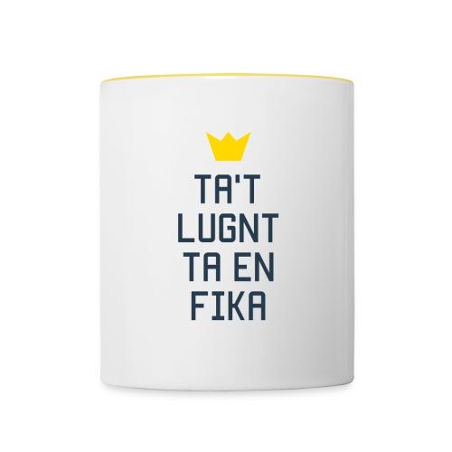Ta't Lugnt Ta En Fika - Contrasting Mug