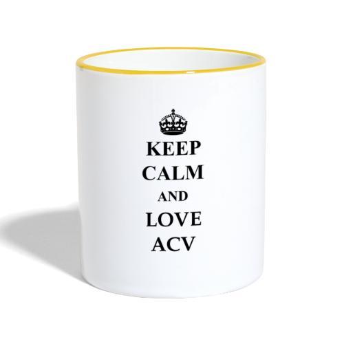 Keep Calm and Love ACV - Tasse zweifarbig