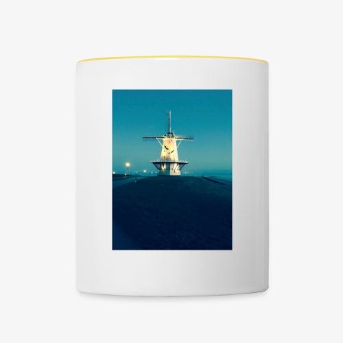 Windmühle an der Küste - Tasse zweifarbig