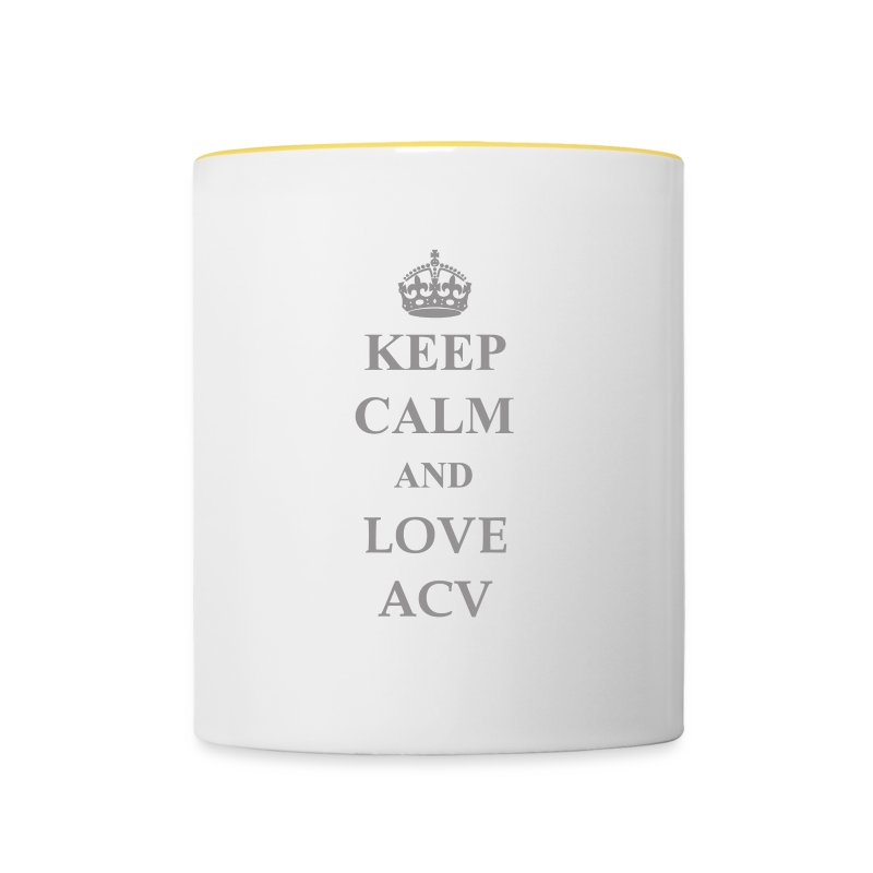 Keep Calm and Love ACV - Schriftzug - Tasse zweifarbig