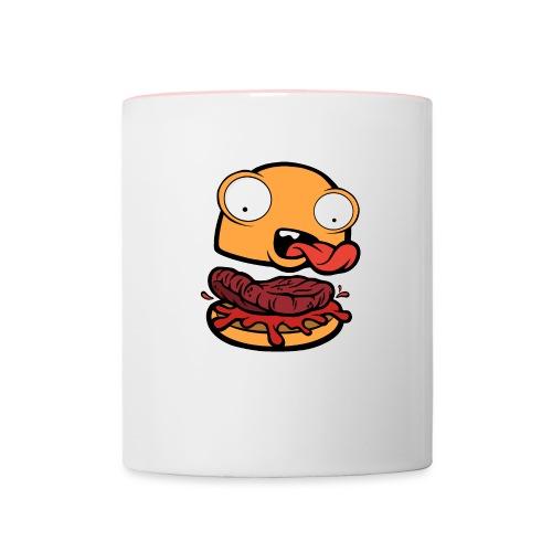 Crazy Burger - Taza en dos colores