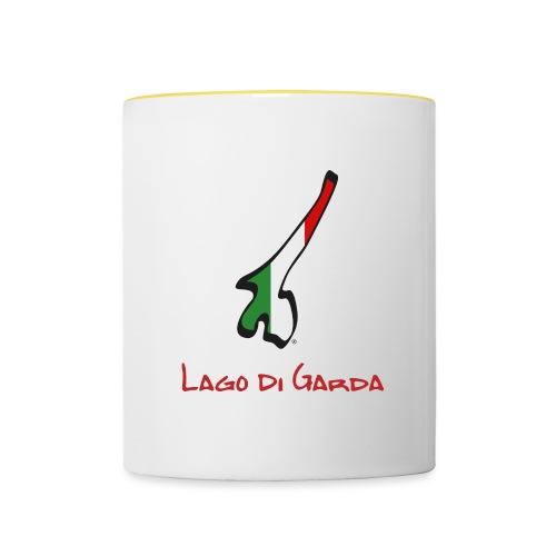 Lago di Garda Sticker Design - Tasse zweifarbig