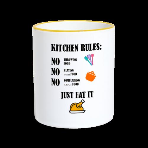 Kitchen Rules - Tasse zweifarbig