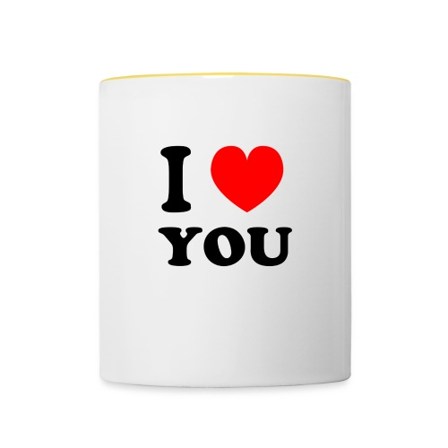 Sweater met i love you - Mok tweekleurig