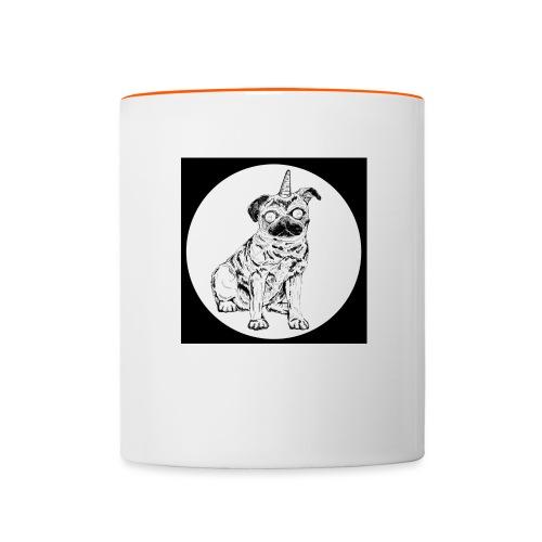 rysunek Pies-Jednorożec - Kubek dwukolorowy