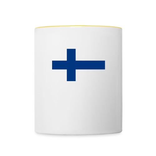 800pxflag of finlandsvg - Kaksivärinen muki