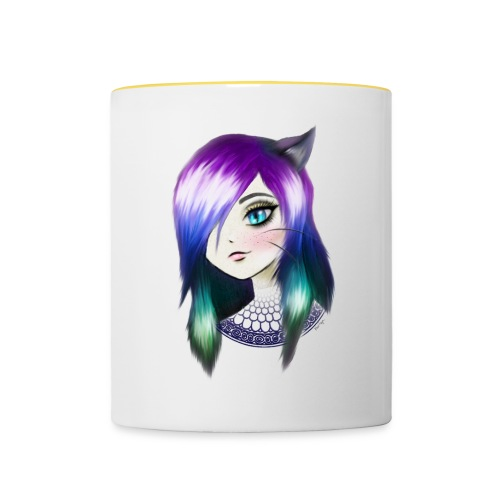manga neko girl - Mug contrasté