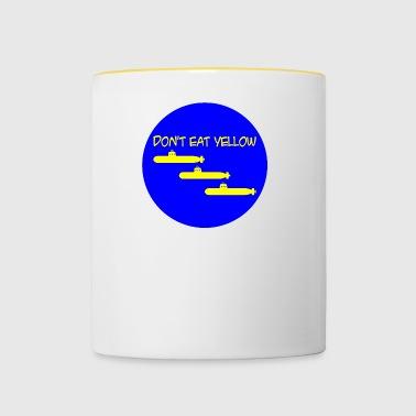 Do not eat yellow submarines - Contrasting Mug