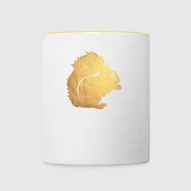 gold eichhörnchen - Tasse zweifarbig