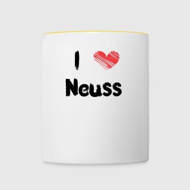 Ik hou van Neuss - Mok tweekleurig