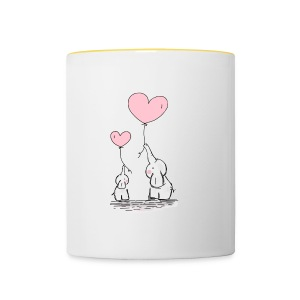 cute elephants - Contrasting Mug