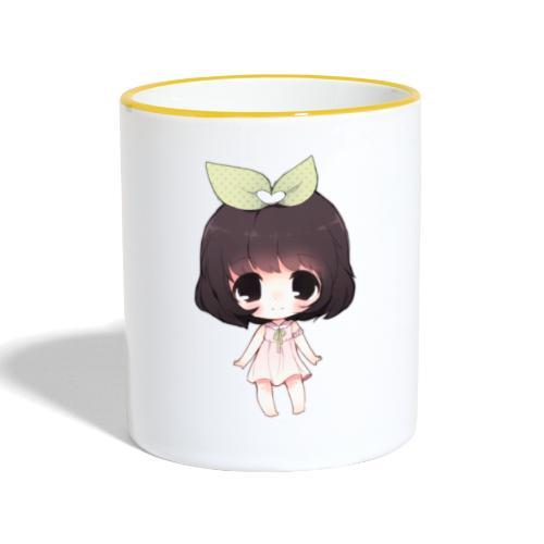 Cute anime girl chibi - Contrasting Mug